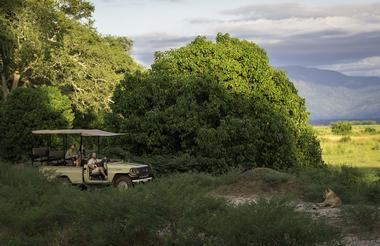 Game drives in Mana Pools